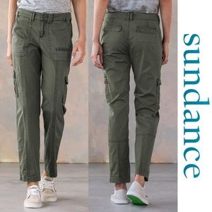 Sundance Everyday Cargo Pants 2 Petite NWOT Olive